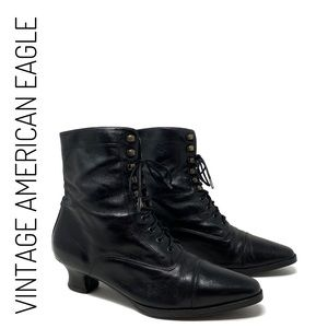 Vintage American Eagle Victorian Lace Up Boots